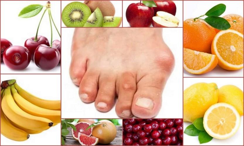 Фрукты и овощи для того, чтобы лечить подагру